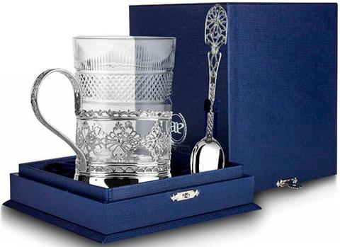 Cеребряный набор для чая «Ажур»