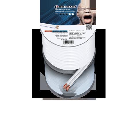 Oehlbach Speaker Wire SP25 2x2,5mm white 30m, кабель акустический