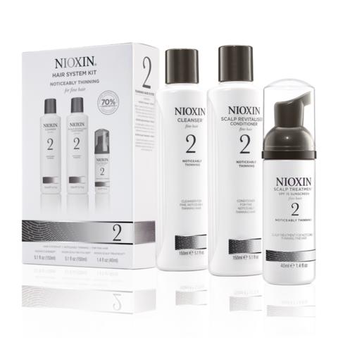 Nioxin Система 2 Набор из 3 продуктов шампунь кондиционер маска купить online
