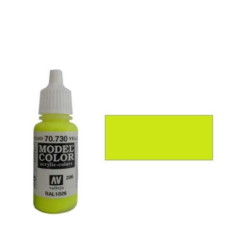 206. Краска Model Color Желтый 730 (Fluorescent Yellow) флуорисцентный, 17мл