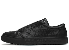 Кеды Мужские Philipp Plein Low-Top Zipper Skull-Embossed