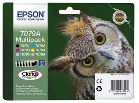 Комплект картриджей Epson C13T079A4A10 для принтеров Epson Stylus Photo P50, PX660, PX720WD, PX820FWD (комплект)
