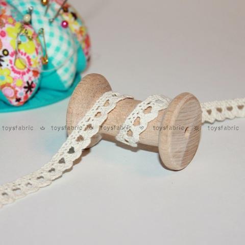 Кружево вязаное КХ1-Н (небеленое) 90см