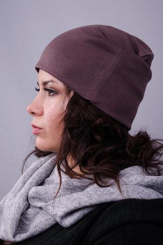 Фэшн. Молодёжные женские шапки. Шоколад.