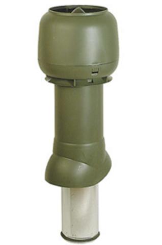 Вентиляционный выход 160/225/500 RAL6005 выход вытяжки изолир.вентил.выход с колпаком 700х160мм