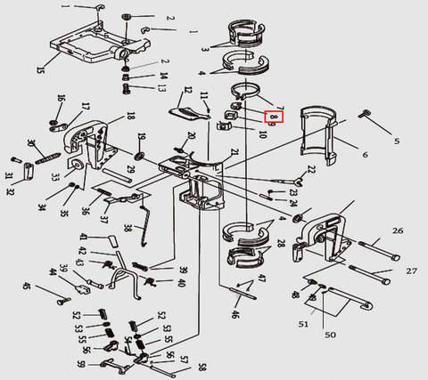 Гайка для лодочного мотора T9.8 Sea-PRO (11-8)