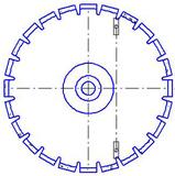 Уменьшение посадочного отверстия диска