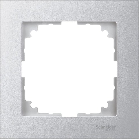 Рамка на 1 пост. Цвет Алюминий. Merten. M-Pure System M. MTN4010-3660