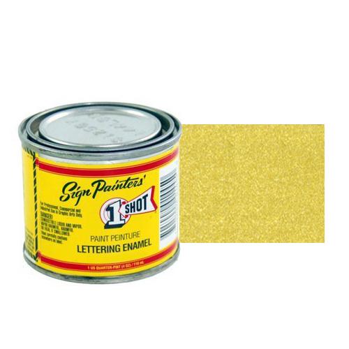 109-L Эмаль для пинстрайпинга 1 Shot Золото (Metallic Gold), 118 мл