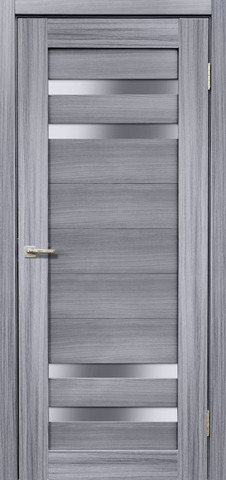 Дверь Дера Мастер 636, стекло белое, цвет сандал серый, остекленная