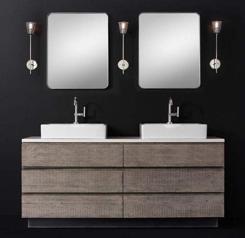 Monterey Double Vessel Vanity - Stone Top - Deck Mount