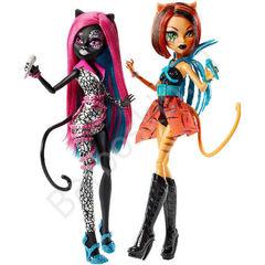 Набор из 2 кукол Школа Монстров Кэтти Нуар и Торалей Страйп Пугающие Рокеры - 2 pack Monster High Toralei Stripe and Catty Noir Fierce Rockers, Mattel
