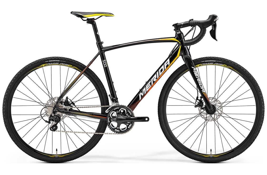 Merida Cyclo Cross 500 (2017) (M/L / черный с желтым)