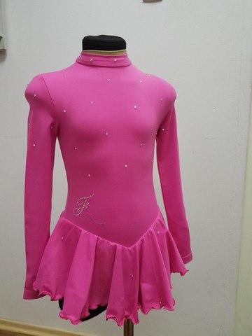 Платье для выступлений, рост 128 см (розовое)
