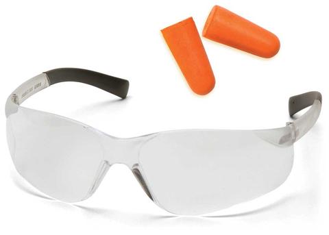 Очки баллистические стрелковые Pyramex Mini Ztek PYS2510SNDP беруши в комплекте прозрачные 96%