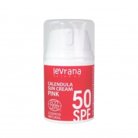 Солнцезащитный крем для тела Календула 50 SPF PINK, 50 мл  Levrana