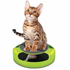 Когтеточка для кошек с игрушкой «Мышелов»