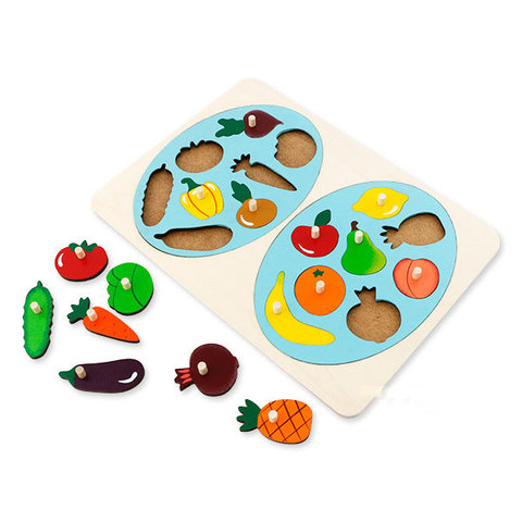Вкладыши Фрукты и овощи, Крона 143-070