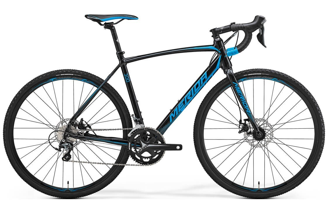 Merida Cyclo Cross 300 (2017) (S/M / черный с синим)