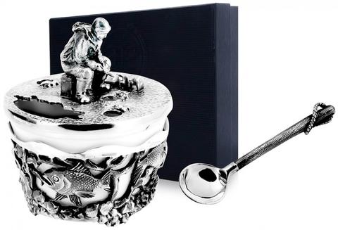 Серебряная солонка «Рыбак»