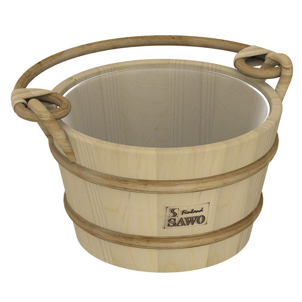 Ведра и кадушки: Ведро деревянное SAWO 341-P (4 литра, с пластиковой вставкой)