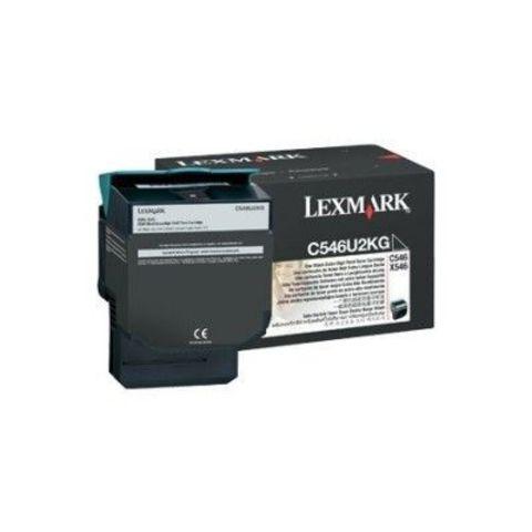Картридж для принтеров Lexmark C546 черный (black). Ресурс 8000 стр (C546U2KG)
