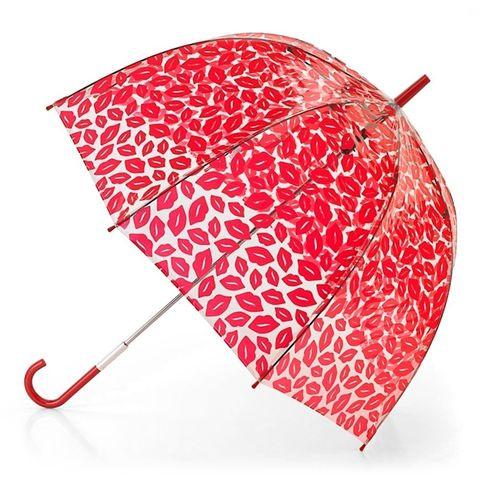Зонт женский трость Lulu Guinness Fulton RedLips (Красные губы)