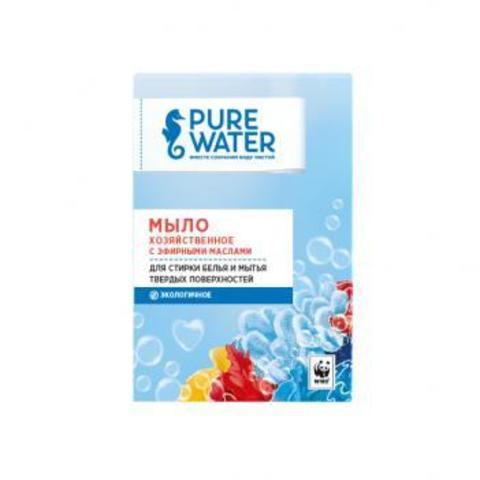 Мыло хозяйственное c эфирными маслами | 175 гр | Pure Water