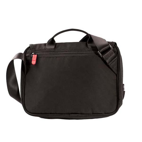 Сумка Victorinox Adventure Traveler, с системой защиты RFID, чёрная, 27x8x22 см, 4 л