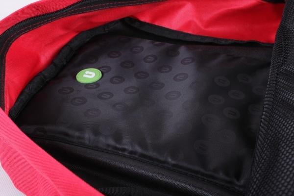Школьный пиксельный рюкзак Classic School красный, основное отделение