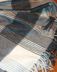 Плед кашемировый 130x180 Zambaiti Engadina серый