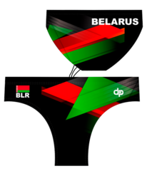 ОБРАЗЕЦ национального дизайна плавок DIAPOLO с символикой РБ для спортсменов по  водному поло (2016)