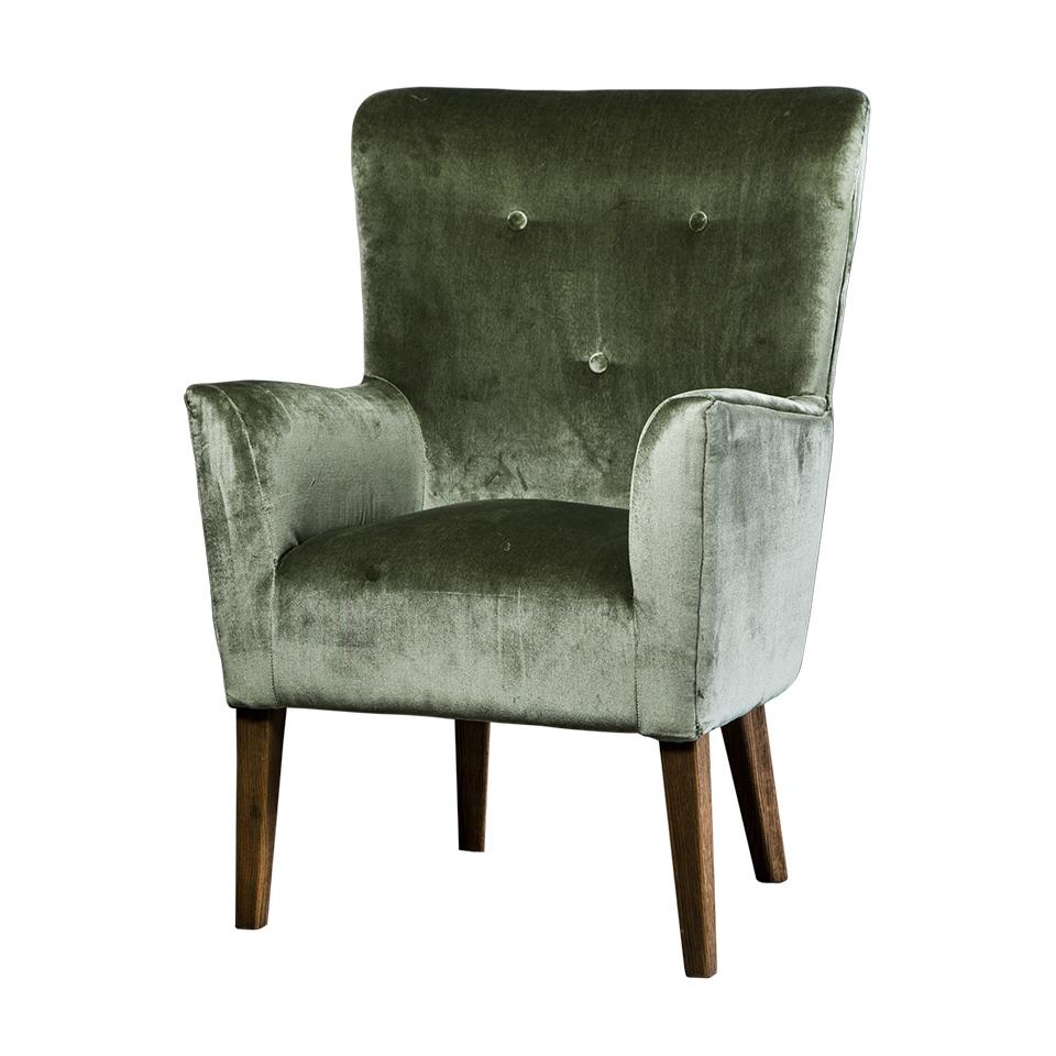 Кресло Roomers Вилона зеленое
