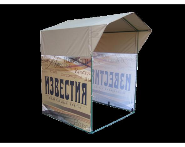 Торговая палатка Митек Домик 1.5х1.5 Ø18 мм с логотипом