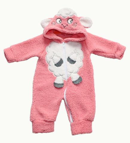 NURCIX Комбинезон для малышей из вельсофта персиковый