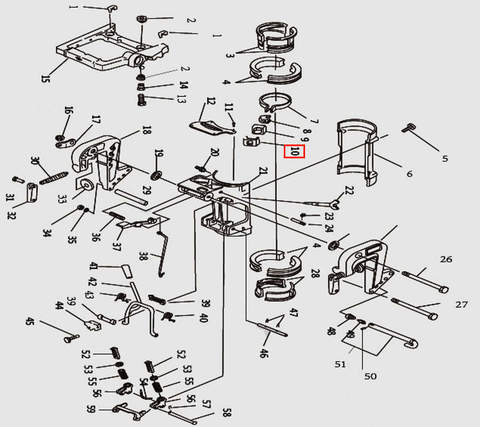Фрикционная пластина для лодочного мотора T9.8 Sea-PRO (11-10)