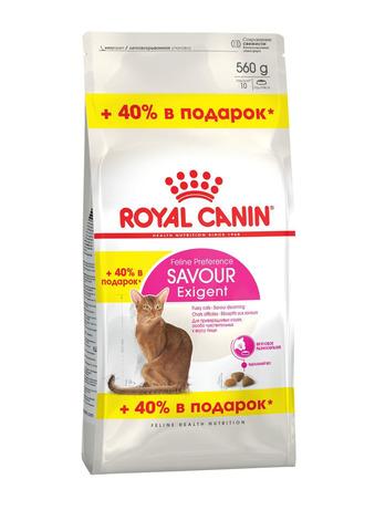 ПРОМО! Royal Canin Savour Exigent сухой корм для привередливых кошек 400+160 г