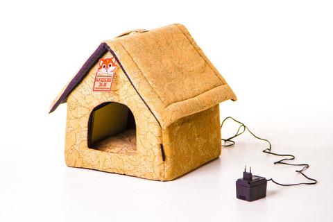 Лежанка для кошек «Кошкин дом» с электрообогревом Будка