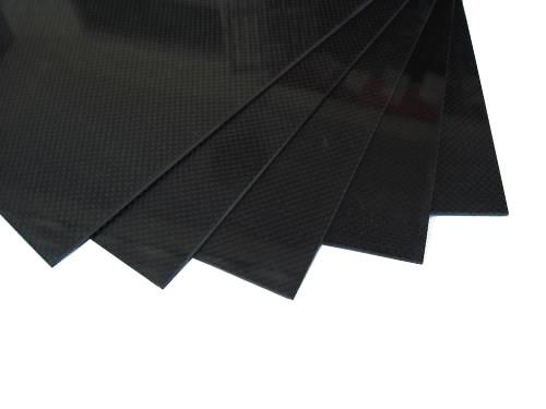 Лист 400х500х1.2мм из карбона 3К