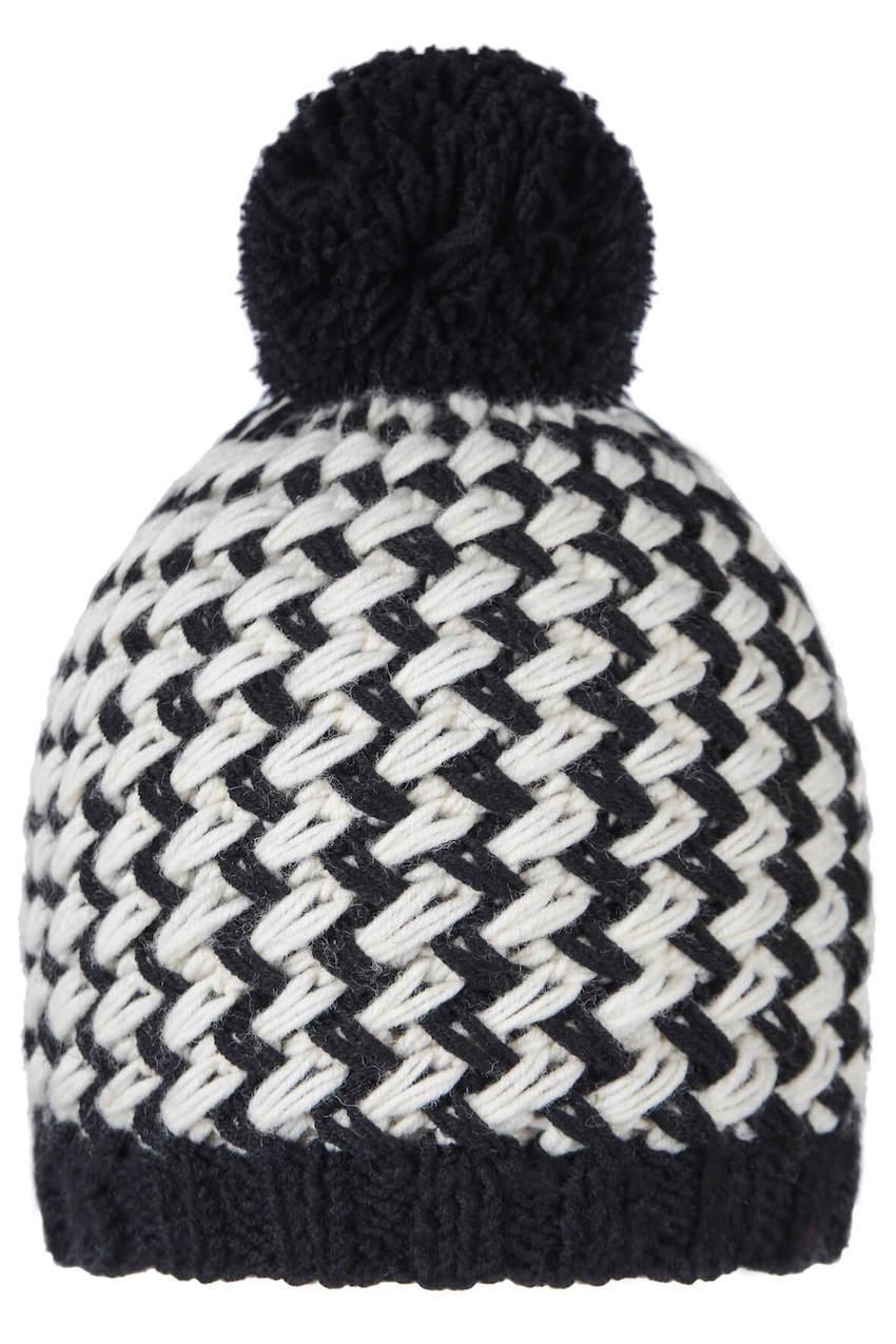 Черно-белая шапочка для мальчика