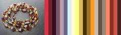 с чем носить бусы из янтаря двух цветов_цветовая палитра для подбора одежды
