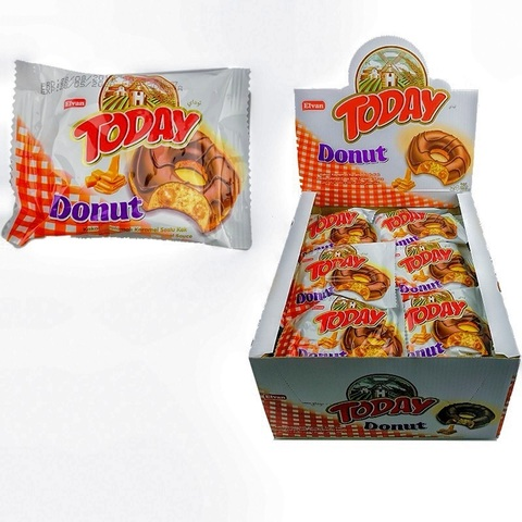 Today Donat Cake With Caramel 50GR (24х6) Донат Кекс в глазури с карамелью 1кор*6бл*24шт, 50гр