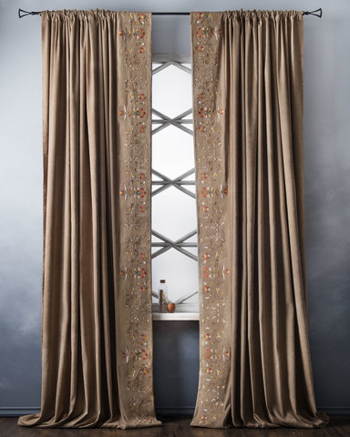 Комплект штор Дебби коричневый