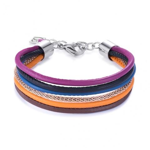 Браслет Coeur de Lion 0120/30-1567 цвет мультиколор, оранжевый, фиолетовый, коричневый