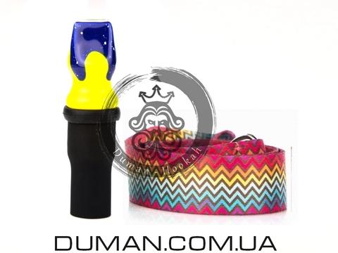 Персональный мундштук Gusto Bowls (Густо Болс) |Blue-Yellow ColorLine