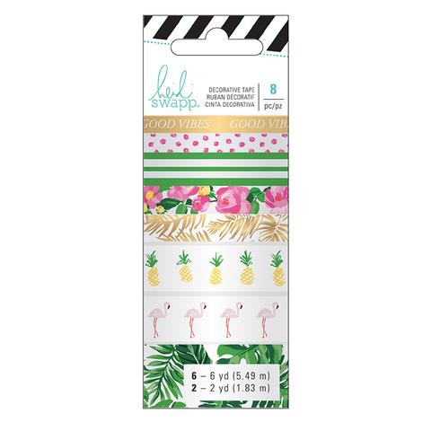 Скотчи декоративные -Heidi Swapp Memory Planner Washi-Tropical -8шт.