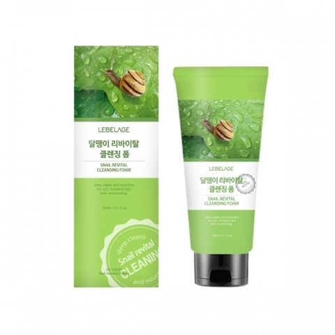 Очищающая пенка LEBELAGE Snail Revital Cleansing Foam 180ml