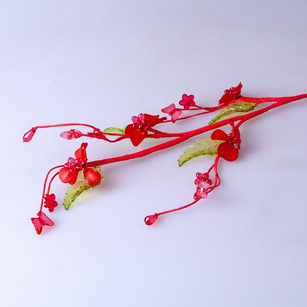 Стеклярус красный 9-007