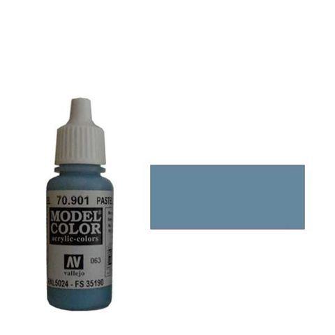 063. Краска Model Color Голубой пастельный 901 (Pastel Blue) укрывистый, 17мл