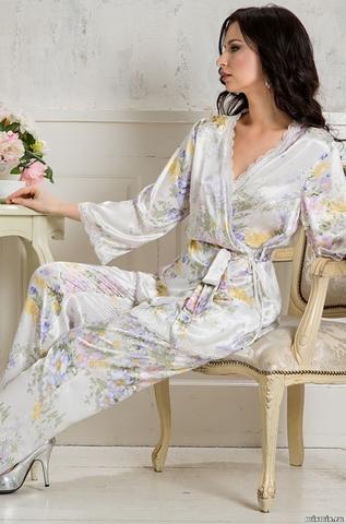 Комплект женский шелковый с брюками  Mia-Amore   Lilianna Лилианна 5995